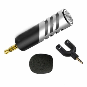 Image 2 - Professional Mic Super small size rotatable R1 Mini Condenser Microphone Mobile Phone Microfone Record for talk