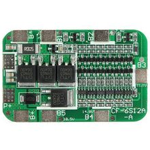 6S 15A PCB BMS Protection Board For 6 Packs 18650 Li-ion Lithium Battery Cell
