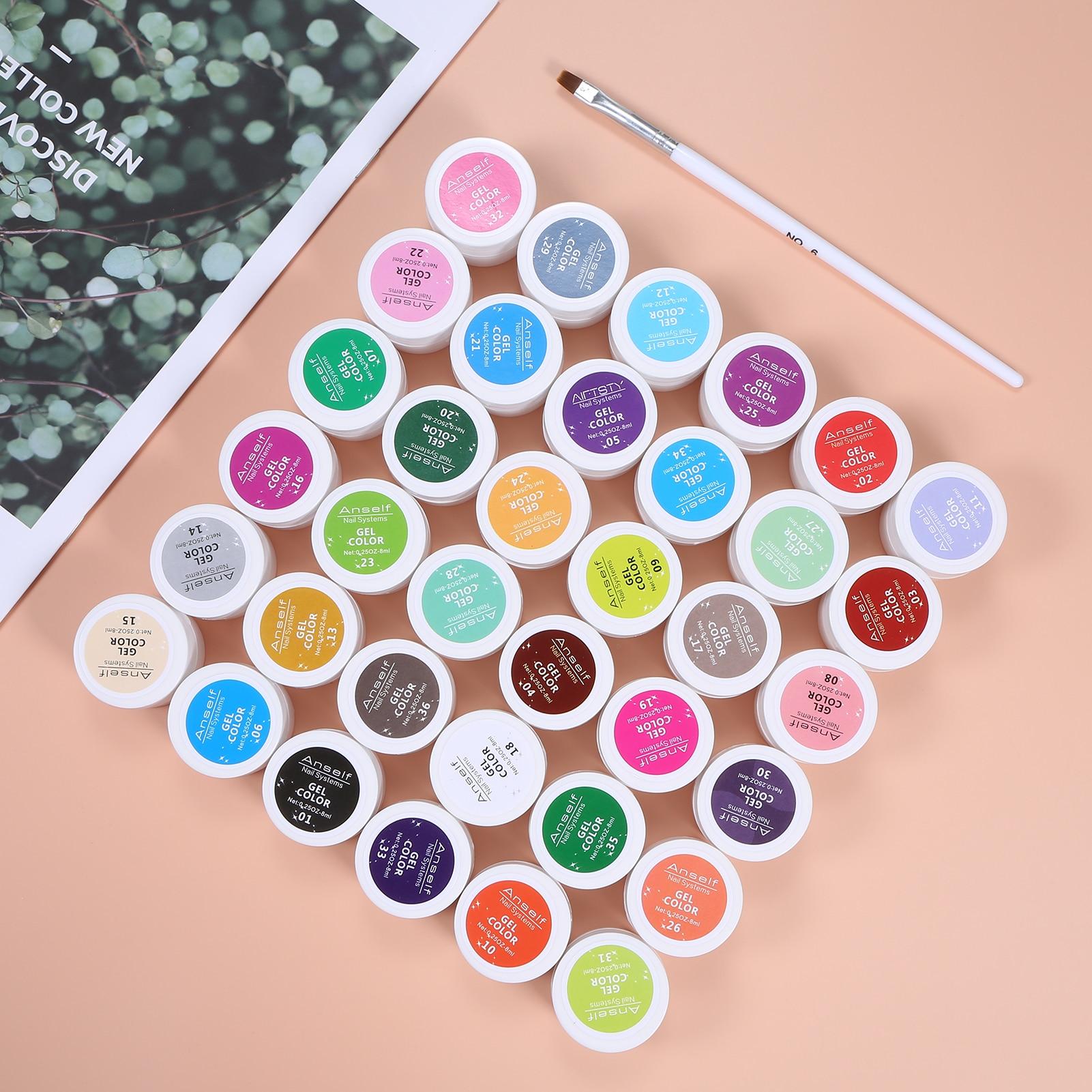 Гель-лак для ногтей, 36 цветов