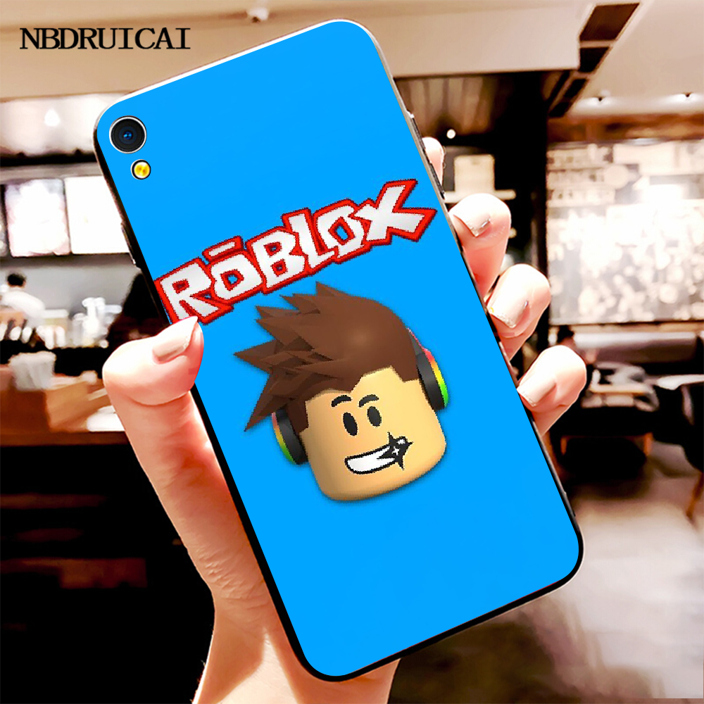 NBDRUICAI شعبية لعبة Roblox غطاء أسود لينة قذيفة الهاتف جراب لهاتف vivo Y91c Y17 Y51 Y67 Y55 Y93 Y81S Y19 Y7S حالة