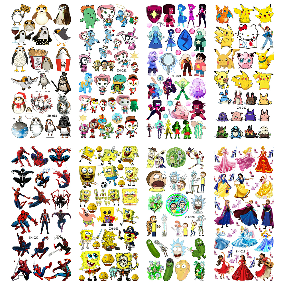 Cartoon Temporary Tattoos Water Transfer Children Tattoo Paper For Boy Kids 3D Tatoo Flash Fake Tatouage Cool Fashion Stickers
