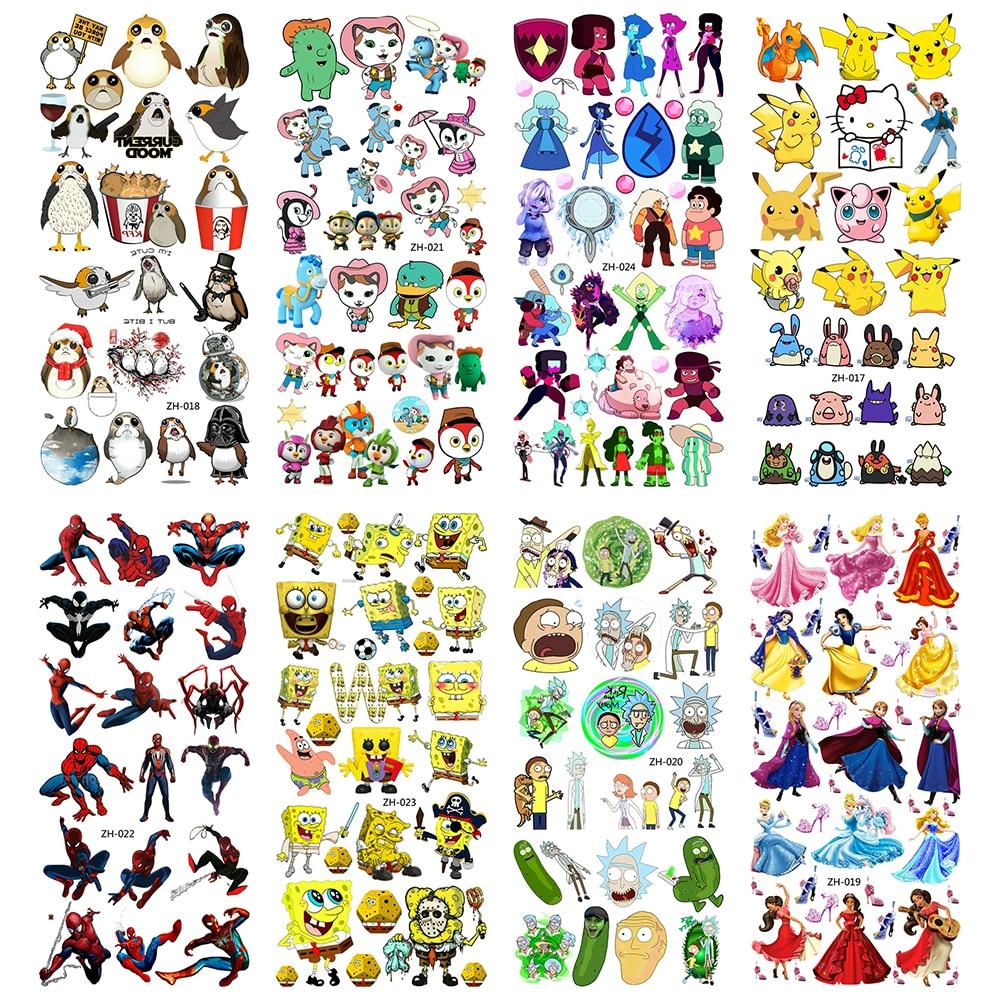 Cartoon Temporary Tattoos Water Transfer Children Tattoo Paper For Boy Kids 3D Tatoo Flash Fake Tatouage Cool Fashion Stickers