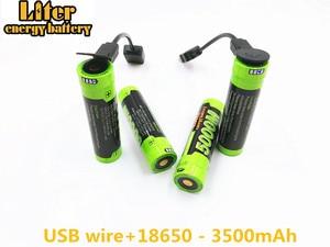 Image 3 - Laptop battery 4PCS 4 LED Indicator USB 5000M 18650 3.7V 3500mAh charging battery Intelligence Li ion Rechargeable Battery