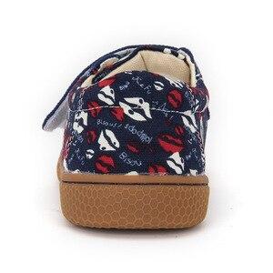 Image 3 - PEKNY BOSA الأطفال أحذية الفتيات الفتيان حذاء قماش الشفاه المطبوعة الاطفال حذاء قماش حجم كبير 25 35 حافي القدمين طفل أحذية رياضية