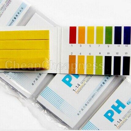 80 полос полный спектр 1-14 рН питьевой Бумага анализаторы тестовые бумажные полоски Бумага полоски химии учебные принадлежности