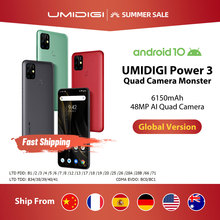 UMIDIGI Power 3 48MP Quad AI Camera 6150mAh Android 10 6.53″ FHD+ 4GB64GB NFC Mobile Phone Triple Slots 10W FastReverse Charging
