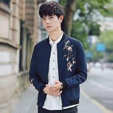 цены New Fashion 2019 Man Embroidery Flower windbreaker Jacket Hooded Wind Breaker Pilot Bomber baseball Skin Mens Jackets Outwear