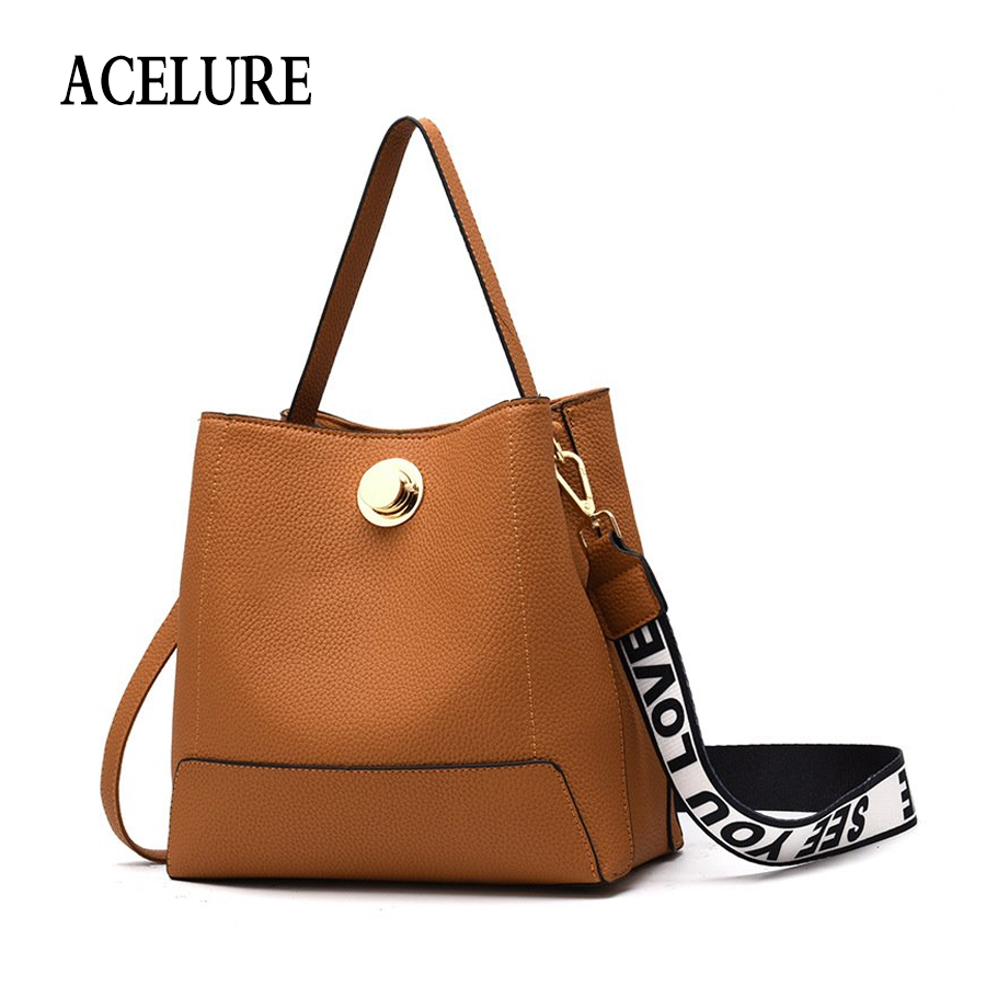 ACELURE Fashion Bucket Bags For Women 2018 New Winter Luxury Handbags Women Bags Designer High Quality Shoulder Crossbody Bags