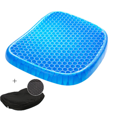 Gel Seat Cushion Wheelchair Honeycomb Non-Slip Breathable Double-Layer for Car Pain-Relief