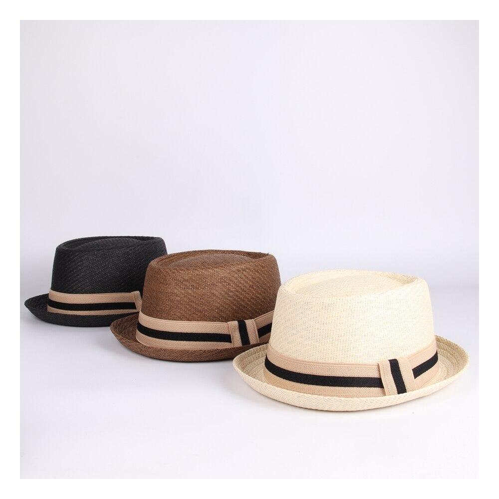 Летняя женская и мужская шляпа от солнца из рафии для джентльмена, с буквенным принтом, для папы, ботера, фетра, шляпы для папы, плоская свини...