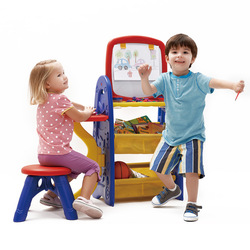 Crayola Multi Purpose Learning Tables And Chairs Children Multi-functional His Desk Easel Double-Sided hua ban zhuo CHILDREN'S D