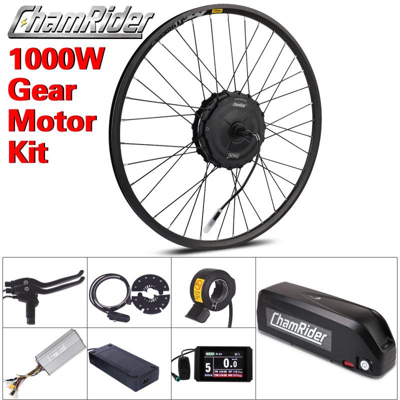 1000 Вт мотор для центрального движения колеса 48V электрический велосипед комплект 20AH хайлон Батарея, фара для электровелосипеда в Conversion Kit XF19...