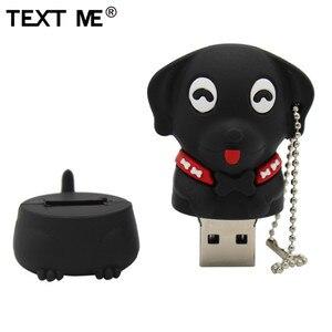 Image 5 - Napisz do mnie 64GB cartoon Mini pies pamięć usb 2.0 4GB 8GB 16GB 32GB pendrive na prezent U dysku