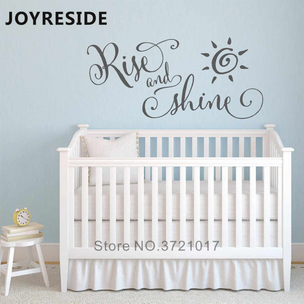 Rise And Shine Cute Wall Sticker Home