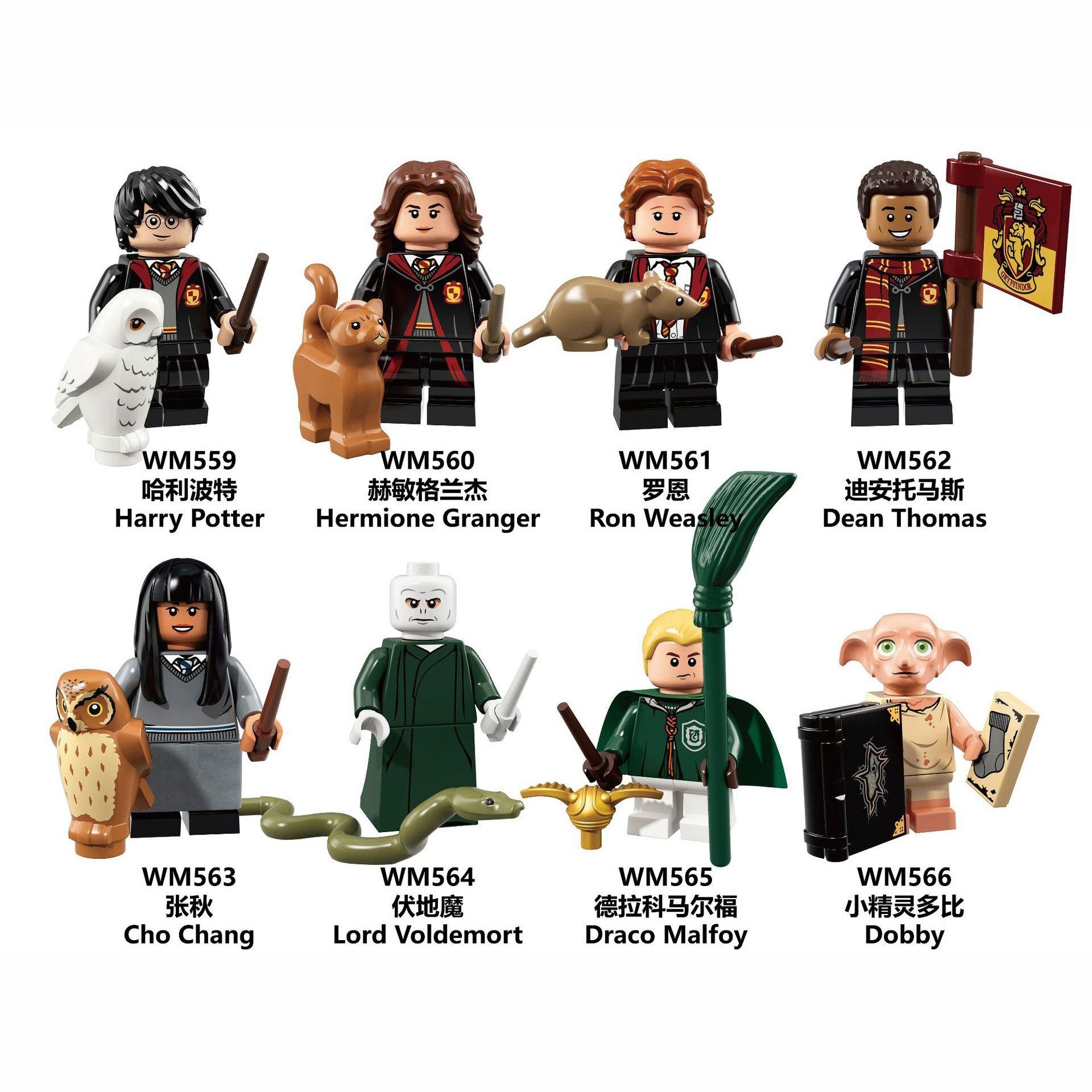 Children Toys Magic Series Potter Cosplay Figures Hermione Luna Lord Voldemort Dumbledore Children Build Blocks Educational Toys