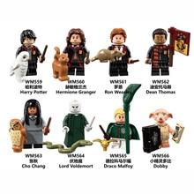 цена Children Toys Magic Series Potter Cosplay Figures Hermione Luna Lord Voldemort Dumbledore Children Build Blocks Educational Toys онлайн в 2017 году