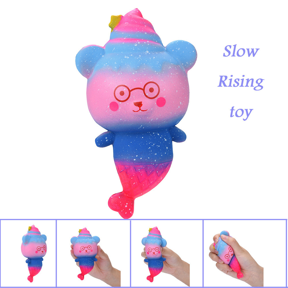 Puzzle Toys Glasses Bear Decompression Toy 1PC Cute  Ice Cream Bear Slow Rising Collection Squeeze Stress Relieve Toys L113