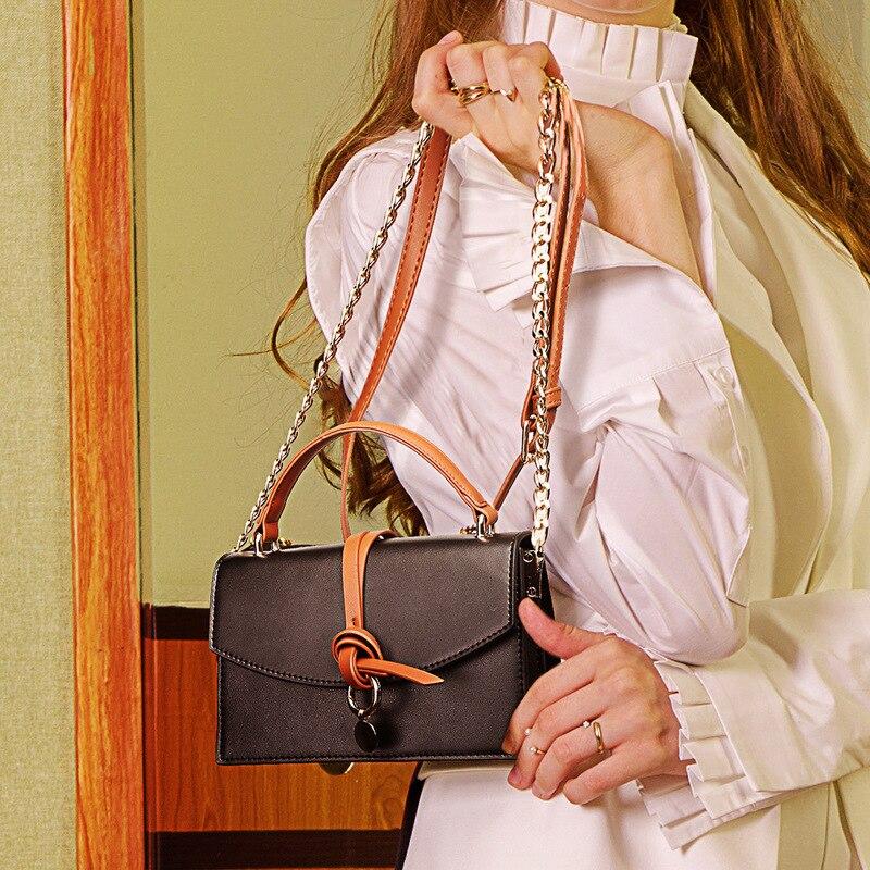 Nouveau sac en cuir rétro-vintage Simple avec petite peau de vache enveloppée carrée, sac de mise en forme oblique à une épaule