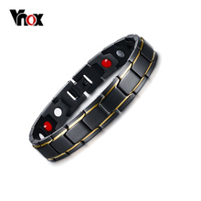 Therapy-Bracelet Magnetic Jewelry And Pure-Titanium Vnox Men for Arthritis Carpal Tunnel
