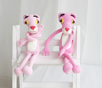 2019 cute handmade pink leopard doll crochet toy gift knit doll best birthday gift (finished, non DIY)