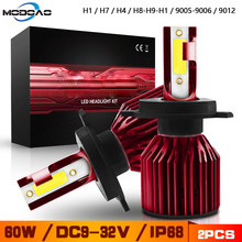 72W Car Headlight H7 LED H4 8000LM H1 H11 9005 HB4 9012 LED Bulbs 6000K Auto Headlamp 12V 24V Fog Light Bulb(China)