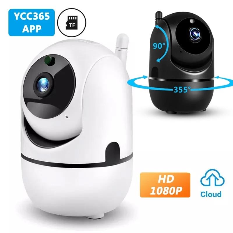 Смарт-Камера Wi-Fi HD 1080P облачная Беспроводная на открытом воздухе автоматическое слежение инфракрасная камера видеонаблюдения дома ycc365 плюс...