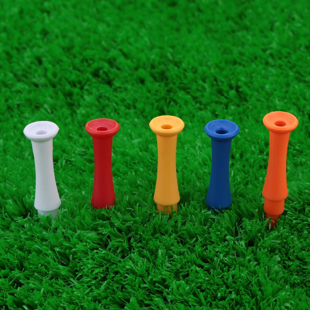 50Pcs 75mm Mixed Color 3 Sections Step Down Golf Tees Outdoor Sports Golf Tees Golf Activity