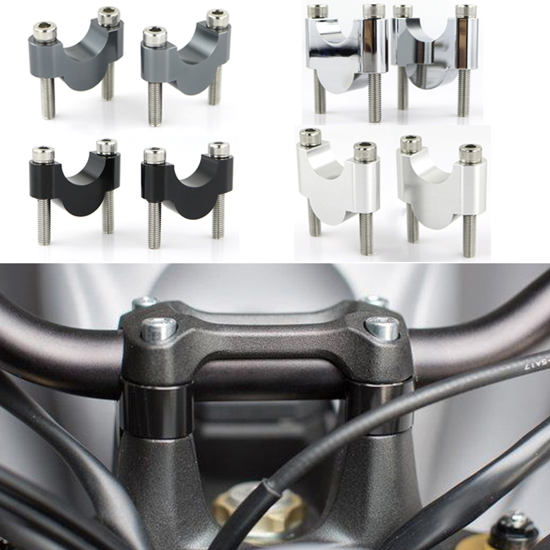 7 8inch 22mm Handlebar Risers Stardard Bar Mount Riser CNC Aluminum Motorcycle For Triumph Scrambler   EFI Bonneville SE SPEED FOUR
