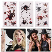 30pcs Halloween Temporary Tattoos Spiders Designs Stickers Spookiest Party Favor(China)