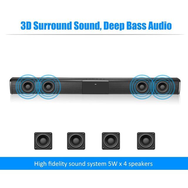 40W Super Power Wireless Bluetooth Soundbar Speaker Subwoofer TV Home Theater Soundbar + Remote Control Consumer Electronics