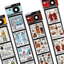 Mohamm 65 мм x 350 мм длинная маскирующая лента для домашних животных Васи, светильник, серия, простой персонаж, креативный Скрапбукинг, канцелярские товары для школы, Suppl