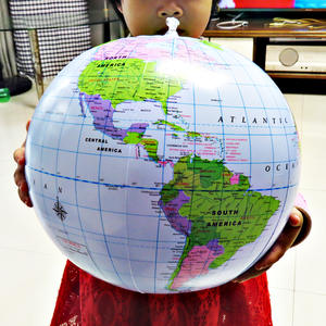Ball Globe Geography Map Educational-Supplies World-Earth-Ocean Inflatable 16inch Learning