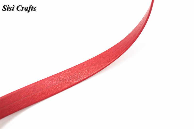 """Sisi 工芸品テープ 1 センチメートルフラットフェイクレザーレッド pu リボンコードバイアス 3/8 """"レイヤリング diy の毛の弓襟手作りアクセサリー材料"""