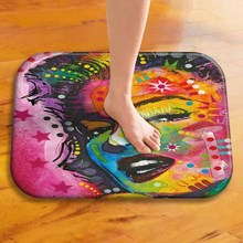1 40 * 60 Cm Cool Painted Animal Pattern Non slip Suede Carpet Door Mat Outdoor Kitchen Living Room Bedroom Floor Mat Carpet  ..