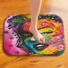 1 40*60 Cm fajne malowane zwierzę wzór antypoślizgowy zamszowy dywan wycieraczka do butów na zewnątrz kuchnia salon na podłogę do sypialni Mat dywan ..