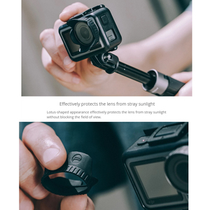 Image 3 - PGYTECH Camera Sunshade Protective Cover Cap PGYTECH Lens Hood Compatible With DJI Osmo Action Gimbal Camera Accessories