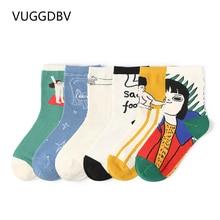 socks women Cute childlike illustration cartoon calcetines mujer divertido skarpetki damskie Shipping
