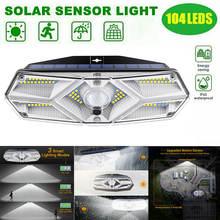 104 светодиодный солнечный светильник на открытом воздухе Солнечная