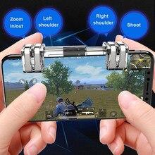 2 stücke K9 Metall Handy-Spiel Gamepad Trigger L1R1 Smartphone Shooter Controller für PUBG Pad Joystick Gamepad Feuer Taste Ziel schlüssel
