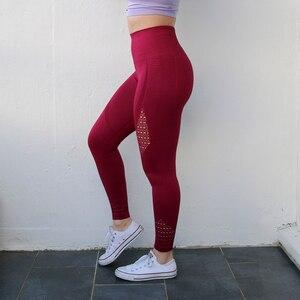 Image 5 - Nepoagymผู้หญิงEnergy Seamless TummyควบคุมกางเกงโยคะSuperยืดGym Tightsสูงเอวกีฬากางเกงขายาววิ่งกางเกง