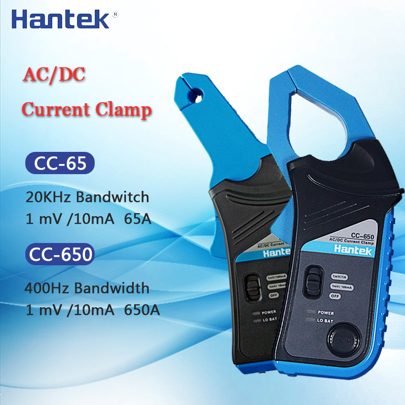 Clamp Meter Current Clamp DC AC Meter Hantek CC650 CC65 Mini Handheld Oscilloscope Multimeter Clamp Tester With BNC Connector