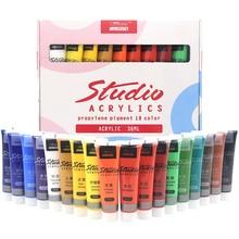 Набор акриловых красок, 36 мл, краски для ткани, для одежды, текстиль, для ногтей, волокно, пигмент, акриловая краска s для окрашивания, большие товары для рукоделия