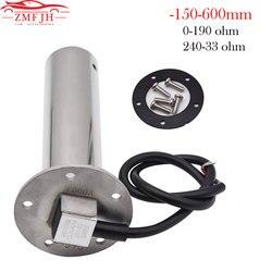 Sewage Level Sensor 150-600mm Boat Water Sender Unit Water Level Sewage Sensor for Marine Boat Tank Level Gauge 0-190/240-33 ohm