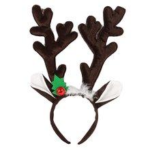Рождественская повязка на голову Олень Рог Санта Снеговик обруч