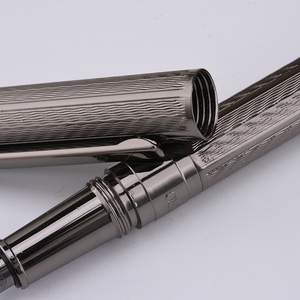 Image 3 - גיבור מתכת מוברש מזרקת עט H610 מים אדוות אופנה Iraurita בסדר 0.5mm אפור/זהב/רוז זהב עסקים משרד תלמיד מתנה