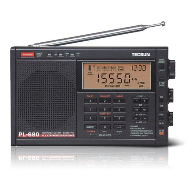 Tecsun PL-680 радио FM Цифровая настройка полный диапазон FM/MW/SBB/PLL синтезированный стерео радио приемник портативный динамик Авто спящий режим