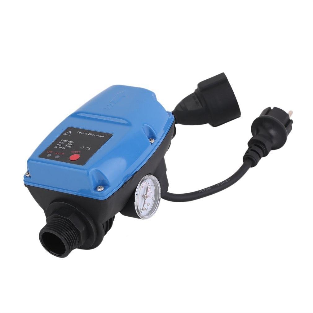 SKD-5MIT Water Pump Pressure Controller Electronic Automatic Pressure Control Switch with Pressure Gauge EU Plug