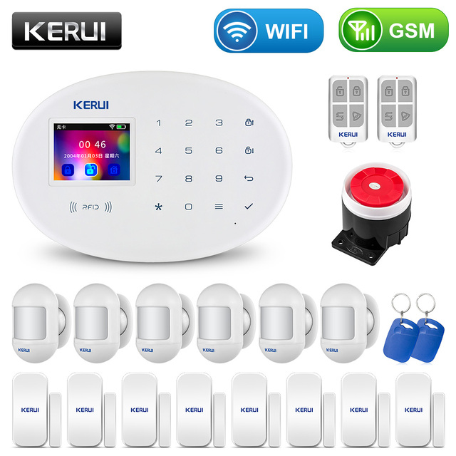 KERUI W20 Phone APP Control Smart Home Security Burglar WiFi GSM Alarm System With Motion Sensor DIY Kit For House Villa Garage 1