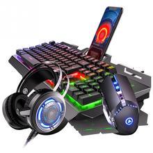 LED الخلفية المحمولة الكمبيوتر لعبة المنزل العالمي مكتب العمل ل الألعاب المحمول لوحة المفاتيح ماوس مجموعة دائم PC USB السلكية