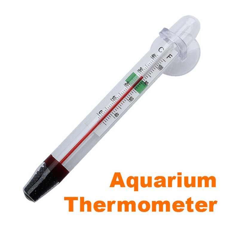 Vis Nuttig GlassTube Aquarium Vers/Zout Vis Thermometer Temperatuur Dompelpompen Zuig Aquaria Tanks Decor Functie Grote